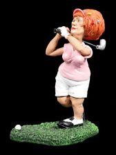 Golfspielerin Figur beim Abschlag - Funny Sports - Lustiges Hobby Geschenk