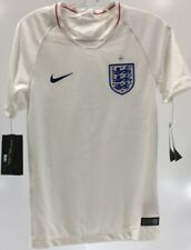 Nike Youth Unisex 2018 England Football Soccer T-Shirt Jersey White Small Nwt #