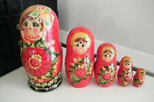 5 poupées russes matriochka complète