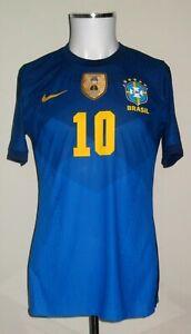 BRAZIL / BRASIL PARIS SAINT-GERMAIN BARCELONA MATCH UN WORN SHIRT NEYMAR 2021