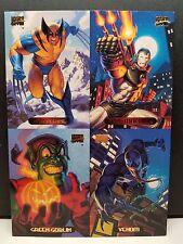 1994 Marvel Masterpiece 4 Card Uncut Promo Sheet Wolverine, Venom, War Machine