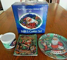 SANTA'S MILK & COOKIE MELAMINE SET With Storybook