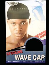 KING. J STOCKING WAVE CAP SMOOTH TEXTURE ULTRA STRETCH 2 CAPS PER PACK #061