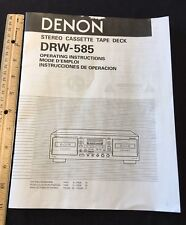 Denon DRW-585 Stereo Cassette Deck Original Owners Manual 15 Pages drw585 AB