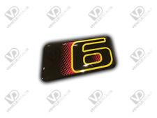 PEUGEOT 306 GTI 6 YELLOW DOOR BOOT BADGE STICKER DOMED RESIN NEW