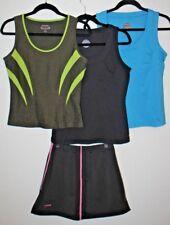 Bolle Lot Running Cycling Gym Tank Top Shirt x 3 + Tennis Skort, Size Medium Euc