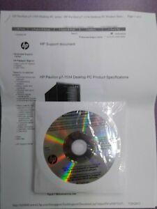 HP Pavilion Desktop PC p7-1534 System Recovery Discs (NIB)(4 discs per 1 qunty)