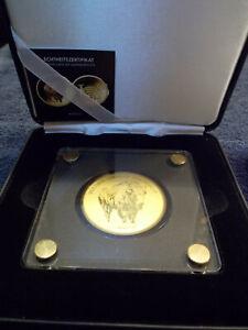 große 40 mm Goldmünze Gold 999 1/200 mit Zertifikat und edler Geschenkbox