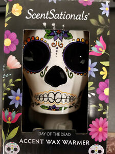ScentSationals Day of the Dead Sugar Skull Wax Warmer Plug In NEW