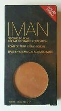 IMAN Second To None Cream To Powder Foundation Velvet Finish~ SAND 4~ .35 oz
