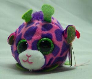 "TY Teeny Tys FERRIS THE LITTLE PINK & PURPLE GIRAFFE 4"" Plush Stuffed Animal NEW"