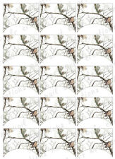 15 FRENCH NAIL TIPS *REALTREE CAMO SNOW* AP Snow Camo WATERSLIDE NAIL DECALS