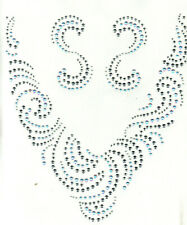 NECKLINE GOLD SILVER STUDS Iron On Transfer
