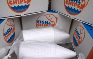 50 Chip Cones  fish and chips takeaway Packaging Ice Cream