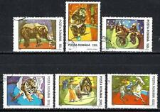 Animaux Cirque Roumanie (187) série complète 6 timbres oblitérés