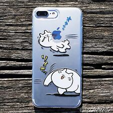 MADE IN JAPAN Soft Clear TPU Case Japanese Anime Cats for iPhone 7 Plus