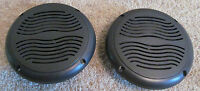 "2 RV Marine Camper Trailer Black Wave 5.25"" Recess Mount Speakers UV Protected"