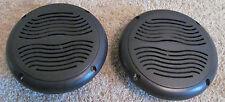 "2 RV Marine Camper Trailer Black Wave 5.25"" Recess Mount Speakers UV Protected"