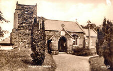 LINCOLNSHIRE POSTCARD, SOMERSBY CHURCH WHERE ALFRED TENNYSON'S FATHER WAS VICAR