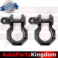 "1 Pair 3/4"" Black 3.0 Ton Aluminum D-Ring Bow Shackle Heavy Duty Off road Atv Rv"