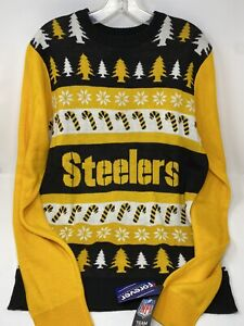 NEW Pittsburgh Steelers Ugly Christmas Sweater Medium NFL Football Holiday Retro