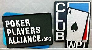 POKER IRON ON PATCH - POKER PLAYERS ALLIANCE or CLUB WPT