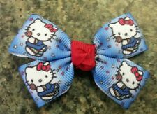 Lot of 2 Hello kitty red blue princess hair bows toddler girl alligator clip