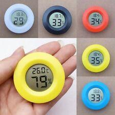 Digital Meter LCD Temperature Humidity Hygrometer Vivarium Reptile Thermometer S