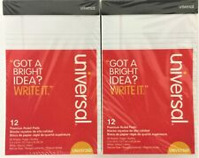 Universal Premium Ruled Writing Pads, Narrow Rule, 5 x 8, White, 24/Pack