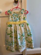 Euc Janie and Jack Silk Yellow & Blue Birds and Flowers Size 3T