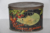 Vintage Carr's Cherry Almond Toffee Ad Litho Tin Box , England