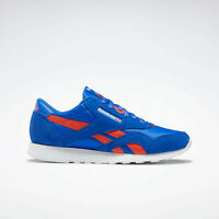 Reebok Mens Classic Nylon Sleek shoes inspired by '80s style blue