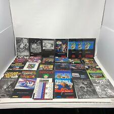 Lot of 32 Super Nintendo SNES Instruction Manuals Mario World Donkey Kong