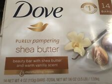 Dove Purely Pampering Shea Butter Beauty Bar - 4 oz - 14 Bars - Brand New Sealed