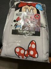 Minnie Mouse 5 pc Twin Bed In A Bag Comforter, Sheets, & Pillow Disney Bedding