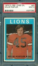 1972 OPC O-PEE-CHEE CFL FOOTBALL WILLIE POSTLER LIONS #43 PSA 9
