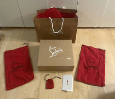 Christian Louboutin Empty Gift Storage Shoe Box 12x10x4 w/ Dust Bags Spikes Bag