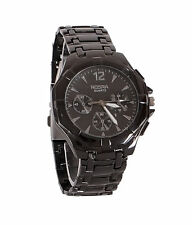 New Stylish Sober Wrist Watch for Men Black Dial - SMCONFBL-6