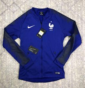 NEW Sz SM Mens Nike France Pregame Anthem Jacket Deep Royal Blue 893590-455 $110