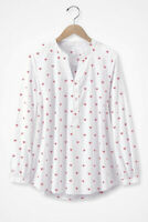 "NWT Cold water Creek ""So In Love"" Women's Henley Blouse Misses sz XXL $99 NEW"