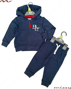 BNWT MOTHERCARE Baby Boys Kids Navy Blue Jogging Suit Hoodie Tracksuit Outfit CO