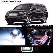6PCS Cool White LED Bulb Interior Package Kit For 2007- 2012 Honda CR-V CRV