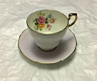 PARAGON BY APPOINTMENT Fine Bone China TEACUP & SAUCER Lilac With Roses