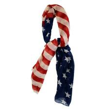 USA American Flag Scarf Shawl Cover Up Wrap Pareo Dress Skirt Sarong LEE059