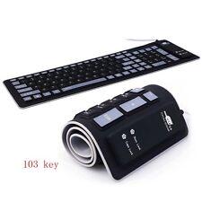 Portable Foldable Keyboard Waterproof Mini Flexible Silicone PC Laptop USB 2.0