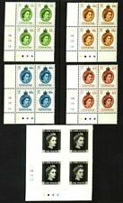 GIBRALTAR 2015 THICK PAPER PLATE BLOCKS(4) w/£1 PENNY BLACK MNH