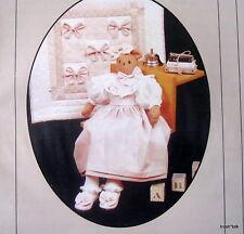 "Heirloom Beginnings 26"" Teddy Bear Craft Pattern & dress wallhanging 22"""