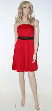 GEORGE Red Corset Bustier Evening Dress & Belt Size 10 Ladies Party