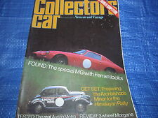 1980 OCTOBER COLLECTORS CAR MAGAZINE / 3 WHEEL MORGANS MG FERRARI PORSCHE  #bk1