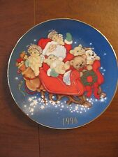 "Dreamsicles Ltd. Ed. 1996 Christmas Plate "" Santa in Dreamsicle Land"" Decorative"